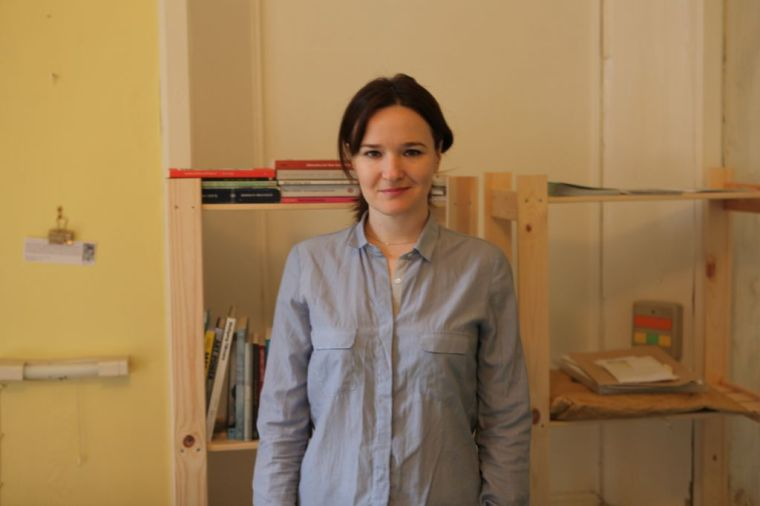 Jennie in her studio