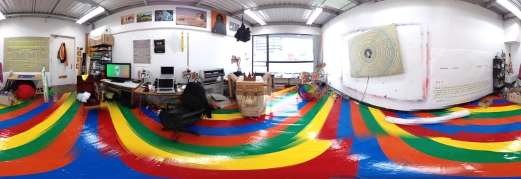 Alan Butler's studio - panoramic view